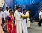 இந்து முறைப்படி இன்று திருமண பந்தத்தில் இணைந்து கொண்ட மகிந்தவின் மகன்