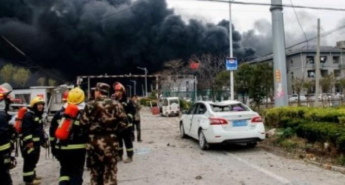 சீனாவில் ரசாயன ஆலையில் பெரும் வெடிப்பு: 44 பேர் உயிரிழப்பு
