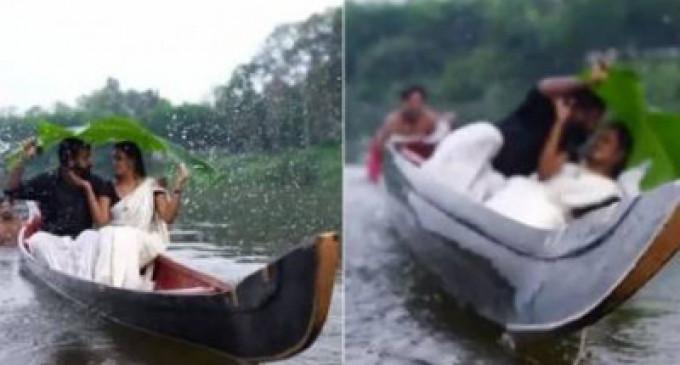 ஏம்ப்பா இப்படியாப்பா பண்ணுவீங்க'.. திருமண போட்டோ ஷூட்டில் நடந்த 'வைரல்' மொமண்ட்.. வீடியோ!