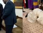 தென் சூடானில் அமைதியை நிலைநாட்டக் கோரி ஆளும், எதிர்க்கட்சித் தலைவர்களின் கால்களை முத்தமிட்ட போப் பிரான்சிஸ்