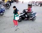 சென்னையில் பட்டப்பகலில்  பெண்ணின் செல்போனை திருடர்கள் பறிக்கும் 'சிசிடிவி காட்சிகள்' : இருவர் கைது