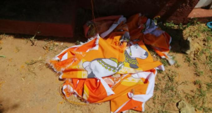 நந்திக்கொடிகளை அறுத்தெறிந்து பிக்கு மீண்டும் அடாவடி – நீராவியடி பிள்ளையார் ஆலய நிர்வாகம்
