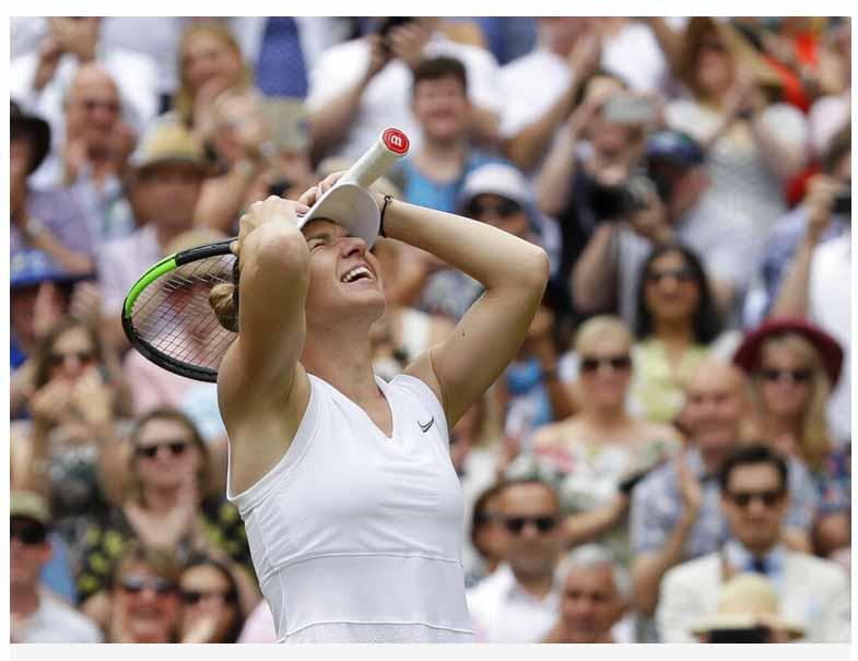 tenniss  `இது எனது அம்மாவுக்காக!' - விம்பிள்டனில் முதல்முறையாக மகுடம்சூடிய சிமோனா ஹாலெப் tenniss