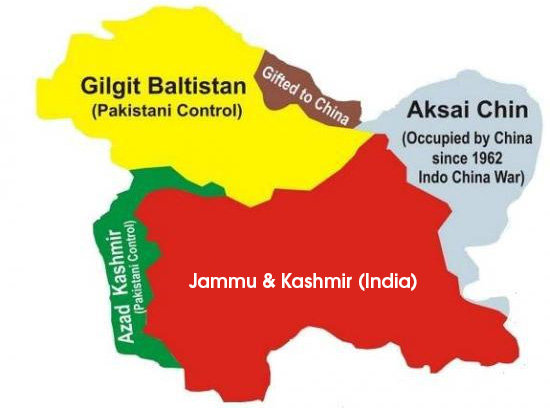 Controlled-Areas-of-Jammu-and-Kashmir-by-China-India-and-Pakistan-Map-Source-Google  காஷ்மீர் குறித்து 71 ஆண்டுகளுக்கு முன் ஐ.நா தீர்மானம்? Controlled Areas of Jammu and Kashmir by China India and Pakistan Map Source Google