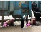 'ரயிலுக்கும், தண்டவாளத்துக்கும் இடையே சிக்கிய பெண்'.. அதிர்ச்சியை ஏற்படுத்திய வீடியோ..!