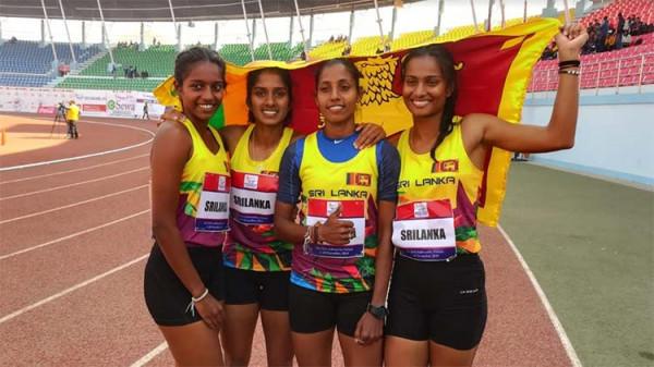 4-x-100-relay-women.-gold  5 ஆவது நாளில் இலங்கைக்கு 7 தங்கப் பதக்கங்கள 4 x 100 relay women