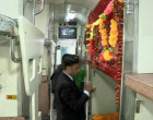 காசி மஹாகால் எக்ஸ்பிரஸ் ரயிலில் கடவுள் படுக்கை 'ரிசர்வ்'! பி-5 பெட்டியில் 64 ஆம் ஆசனத்தில் சிறிய கோவில் அமைத்த அதிகாரிகள்