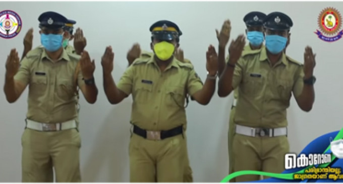 Let's dance: Indian police hand washing video becomes a hit online