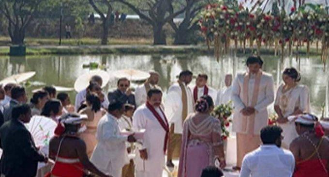 மஹிந்தவின் இளைய மகன் திருமணபந்தத்தில் இணைந்தார்-(படங்கள்)