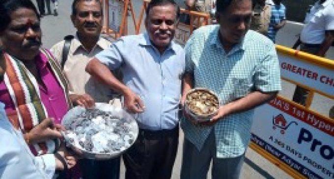 டெபாசிட் தொகையை ரூபாயை சில்லறையாக கொண்டு வந்த வேட்பாளர்..!