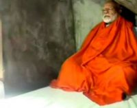 நரேந்திர மோதி காவி உடை உடுத்தி இமயமலை குகையில் தியானம்