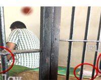 பொலிஸ் நிலைய காவலில் சொகுசு வசதியுடன் இருக்கும் கைதி