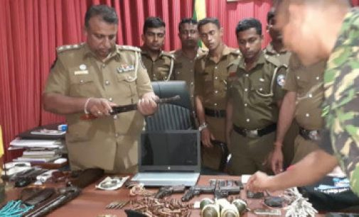 முன்னாள் LTTE உறுப்பினர் வீட்டிலிருந்து ஆயுதங்கள் மீட்பு