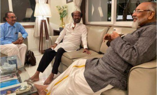 ரஜினியை சந்தித்த விக்னேஸ்வரன் : ஈழத்தமிழர் பிரச்சினை குறித்து விளக்கினார்