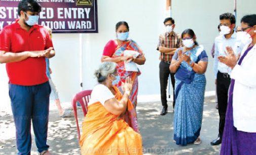 சென்னையில் கொரோனாவில் இருந்து மீண்ட 84 வயது மூதாட்டி உள்பட 3 பேர் டிஸ்சார்ஜ்
