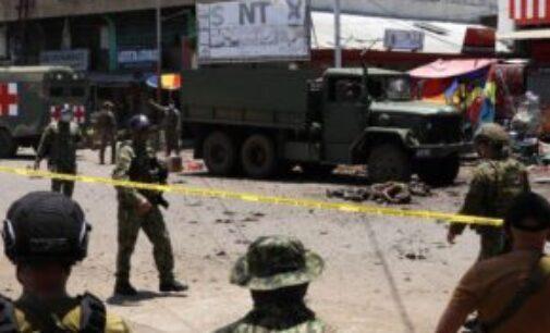 பிலிப்பைன்ஸில் தற்கொலை குண்டுத் தாக்குதல்; 12 பேர் உயிலிழப்பு, 34 பேர் காயம்