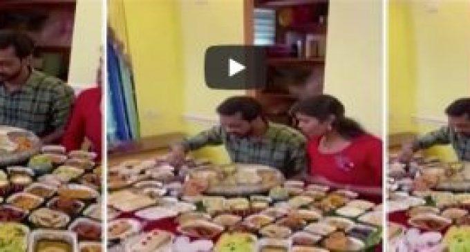 ஆந்திராவில் புதுமாப்பிள்ளைக்கு 125 வகை உணவுகளை சமைத்து அசர வைத்த மாமியார் (வீடியோ)