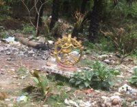 யாழில் குப்பை போடுவதை தடுக்க நடராஜர் சிலை