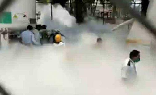 ஒக்சீஜன் கசிவால் : 22 தொற்றாளர்கள் மரணம் (வீடியோ இணைப்பு)